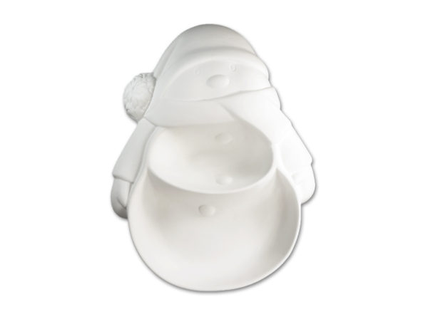 Snowman Section Dish